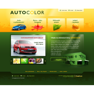 Internetový marketing webu www.autocolor.cz